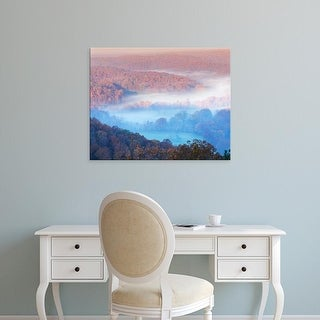 Easy Art Prints Charles Gurche's 'View From Skyline Drive' Premium Canvas Art