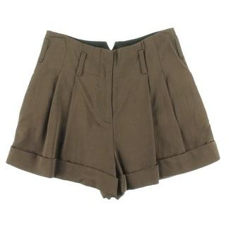 Catherine Malandrino Womens Poplin Cuffed Casual Shorts - 4