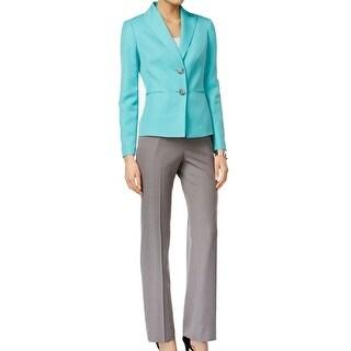 Le Suit NEW Green Womens Size 16 Two Button Seafoam Pant Suit Set