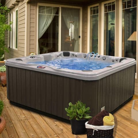 7-person 56-jet Bench Spa w/ Bluetooth Stereo System w/ Subwoofer/LED Waterfall