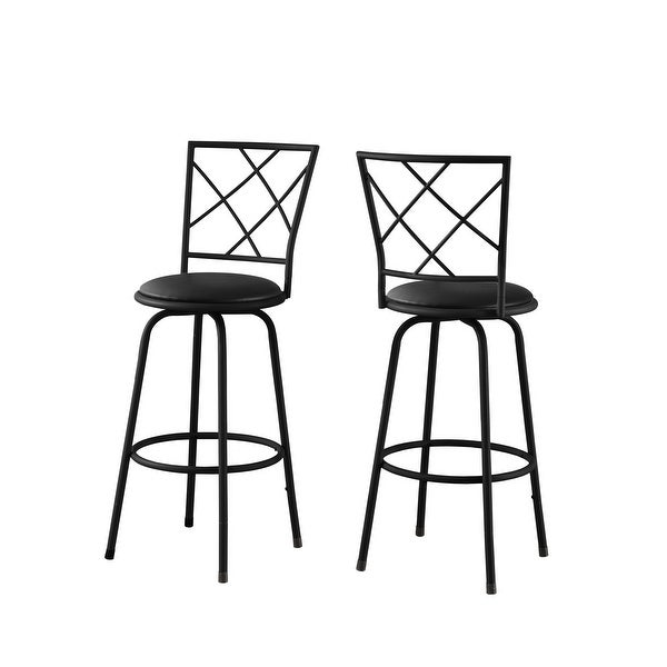 "POLYWOOD Contempo 24/"" Saddle Bar Stool in Black Frame White 2011-FBLWH NEW"