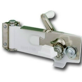 Swing-A-Way 609WH Wall Can Opener with Magnetic Lid Lifter, White