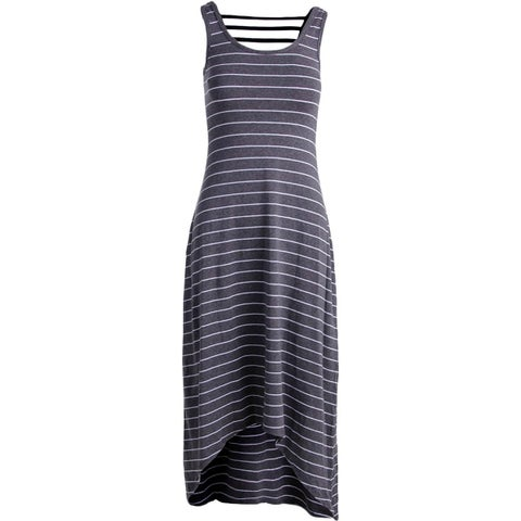 Marc New York by Andrew Marc Womens Maxi Striped Performance Dress Grey L