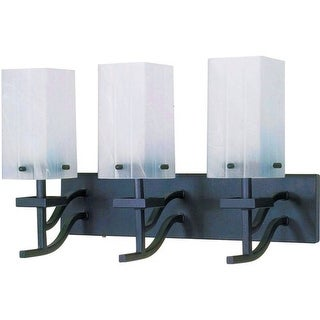 """Nuvo Lighting 60/006 Cubica 3 Light 19.6"""" Wide Vanity Light with Square Alabaster Glass Shades"""