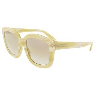 Tom Ford FT0279/S 60G Christophe Beige Horn Square Sunglasses