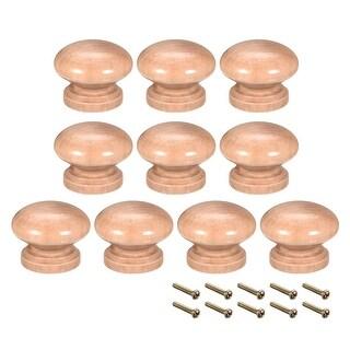 Round Pull Knob Handle 34mm Dia Cabinet Furniture Bedroom Kitchen 10pcs - 34mmx25mm(D*H)-10pcs