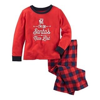 OshKosh B'Gosh Little Boys' Nice List Holiday 2 Piece Pajama Set- 5T