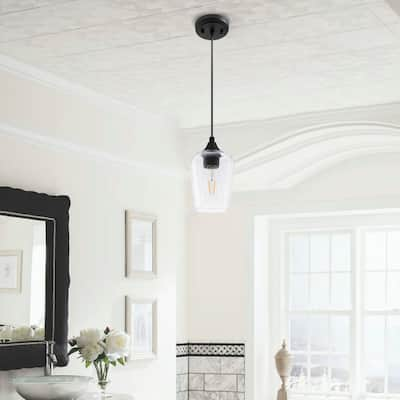 CO-Z 1-light Glass Pendant Light with Adjustable Cord