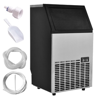 Costway Built In Stainless Steel Commercial Ice Maker Portable Ice Machine  Restaurant