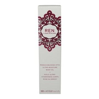 REN Skincare Moroccan Rose Otto Ultra Moisture Body Oil 3.3 Oz