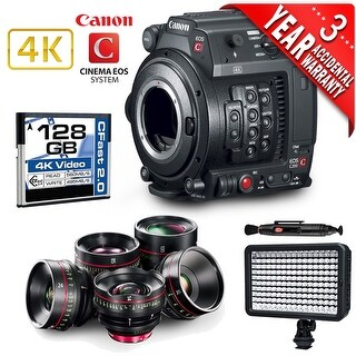 Canon EOS C200 Cinema Camera Intl Version with 5 Canon Cinema Lenses