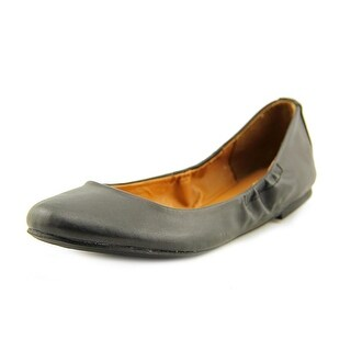 Steve Madden Fresh Women  Round Toe Leather Black Flats