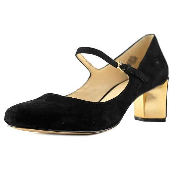 Nine West Fadilla Women Round Toe Suede Black Heels