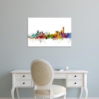 Easy Art Prints Michael Tompsett's 'Manchester England Skyline' Premium Canvas Art