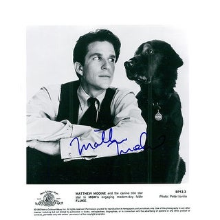 Signed Modine Matthew Fluke BW 8x10 Promo Photo autographed