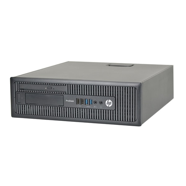 HP ProDesk 400 G1 Core i3 3.4GHz CPU 4GB RAM 250GB HDD DVD Win 10 Pro Small Form Factor PC (Refurbished)