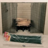 """Woodfield 61086 48"""" Wide  x 28"""" High Hanging Fireplace Spark Screen without Hanging Rod"""