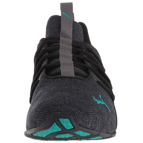 3cea3e444d920 Shop Puma Men's Axelion Sneaker, Iron Gate Black-Spectra Green, 10.5 ...