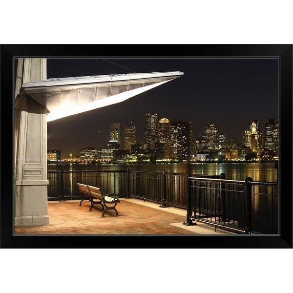 """Boston, Massachusetts"" Black Framed Print"