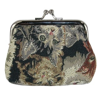 Link to CTM® Women's Cat Print Tapestry Coin Purse Wallet - one size Similar Items in Wallets