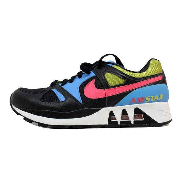523f1b2d0465f Shop Nike Men's Air Stab Black/Flamingo-Bright Cactus 316402-081 ...