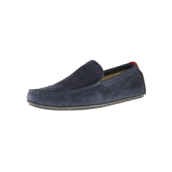 Steve Madden Mens Floyd-S Loafers Suede Square Toe