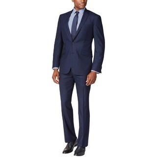 Tommy Hilfiger Sawyer Stretch Performance 2pc Suit 42 Short 42S Pants 36W Blue