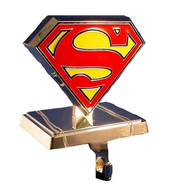Superman Silver Logo Stocking Hanger