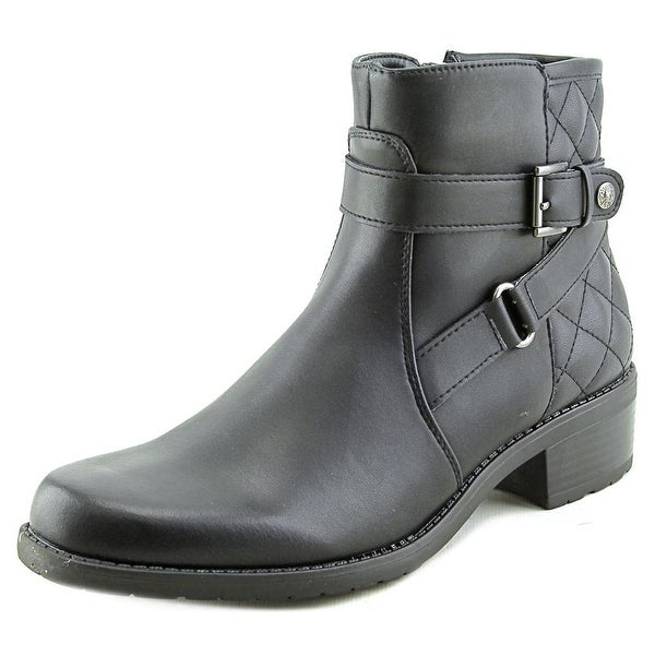 Anne Klein Lynzee Round Toe Synthetic Ankle Boot
