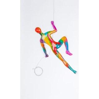 "Finesse Decor CL-1 5 Inch Tall Figure, ""Wall Climber"" Resin Sculpture"
