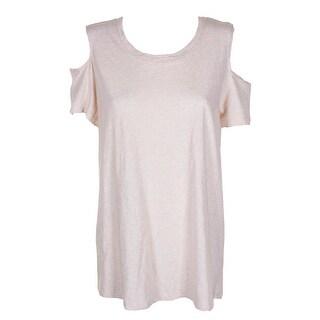 Style Co Ivory Heather Short Sleeve T-Shirt L