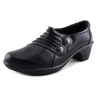 Easy Street Edison Women W Round Toe Synthetic Black Loafer
