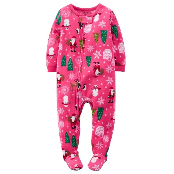 4dc0ad72c094 Shop Carter s Baby Girls  Holiday Microfleece 1 Piece Footed Sleeper ...