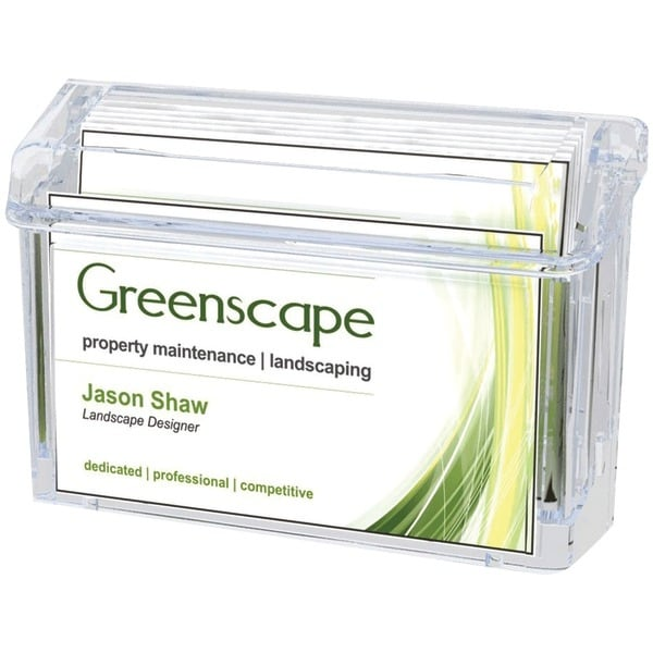 Deflecto 70901 Grab-A-Card(R) Outdoor Business Card Holder