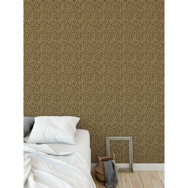 Shop Leopard Print Brown Peel And Stick Wallpaper By Kavka Designs 2 X 16 Overstock 32277118