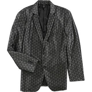 Link to Alfani Mens Jacquard Two Button Blazer Jacket Similar Items in Sportcoats & Blazers