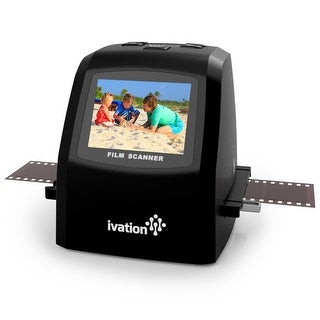 Ivation 22MP Digital Film Scanner & Converter + Speed Load Adapters for 35mm, 110 and 126 Negatives and Slides and Super 8 Films