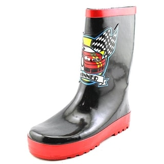 Joseph Allen Race Car Winner Rain Boot Youth Round Toe Synthetic Black Rain Boot