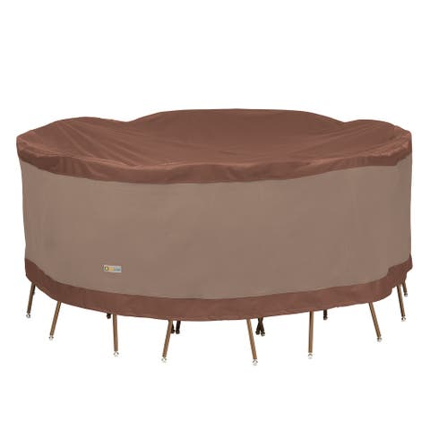 Duck Covers Ultimate Round Table and Chair Set Cover 96in W