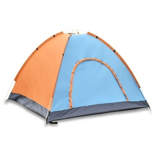 Coloful Waterproof 2 3 Person Camping Tent Orange