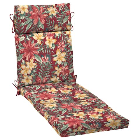 Arden Selections Ruby Clarissa Tropical Chaise Cushion - 72 in L x 21 in W x 3 in H