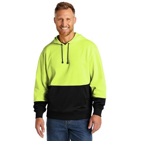 CornerStone Unisex Enhanced Visibility Fleece Pullover Hoodie