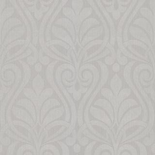 Brewster 295-66523 Amiya Silver New Damask Wallpaper