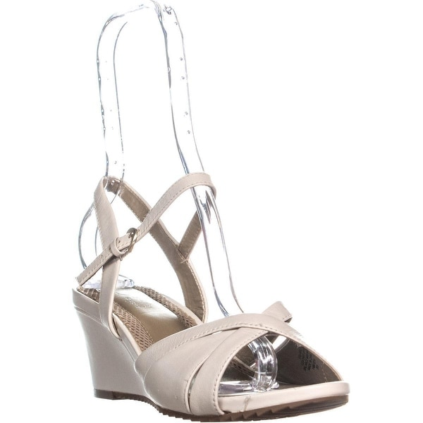 781585de6f2 Shop Easy Spirit Laralee Peep Toe Ankle Strap Wedge Sandals