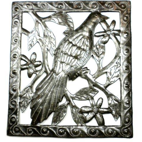 Handmade Bird Metal Wall Art (Haiti)