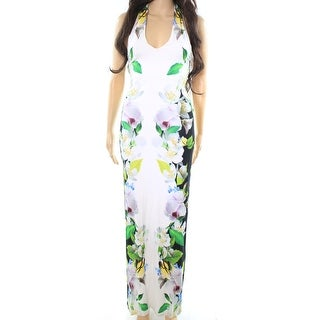 Ted Baker NEW White Women Size 2 London Torus Floral Print Maxi Dress
