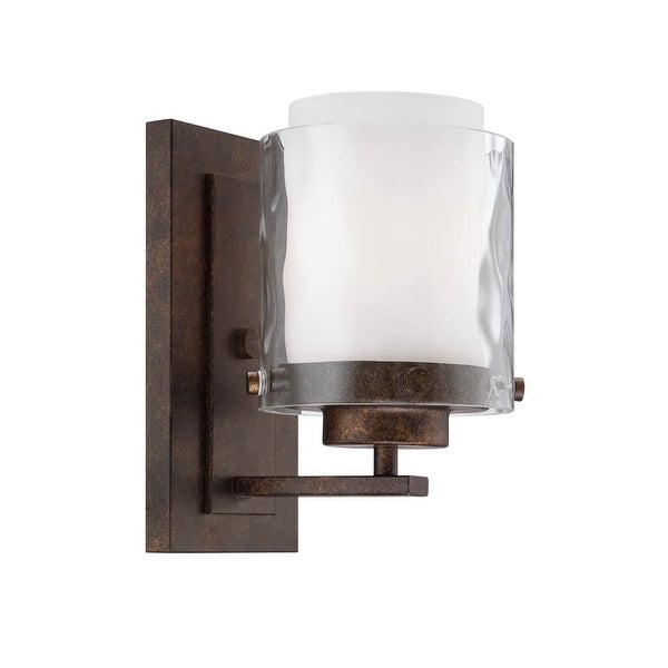 Craftmade 35401 Kenswick 1 Light Indoor Wall Sconce - 5 Inches Wide - peruvian bronze