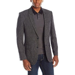 Calvin Klein Classic Fit Tornado Grey Donegal Textured Sportcoat X-Large