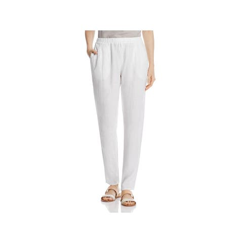 Eileen Fisher Womens Casual Pants Linen Slouchy Fit
