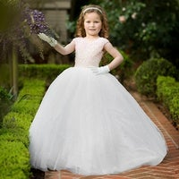 0d72de170 Little Girls White Pink Luxury Corset Beaded Pearl Flower Girl Dress - 6